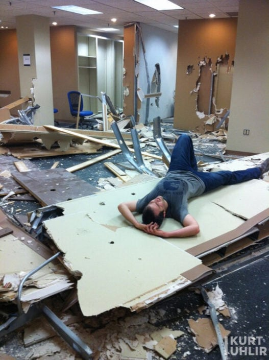 Kurt Uhlir after demolition party at Atlanta Tech Village