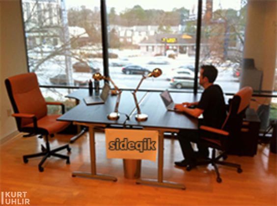 Kurt Uhlir in one of Sideqik's first offices at Atlanta Tech Village. Pre-renovation of The Village.