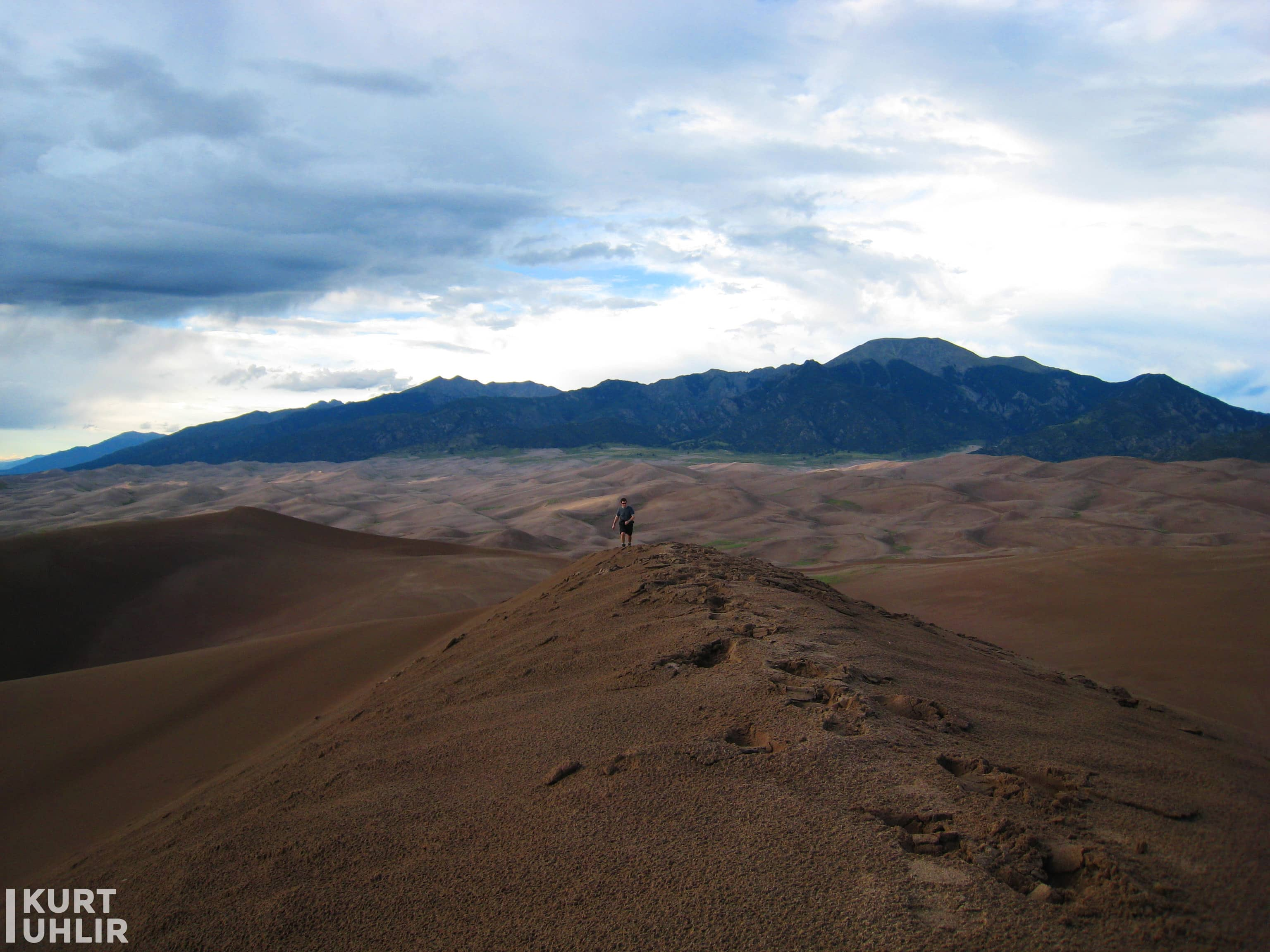 Kurt Uhlir at the top of the dunes at Great Sand Dunes National Park