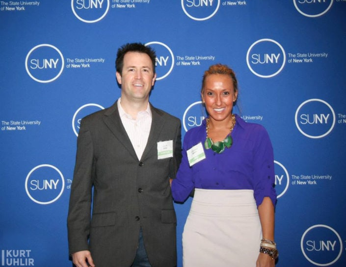 Kurt Uhlir and Kristen Rachels at SUNY Global Center - State University of New York