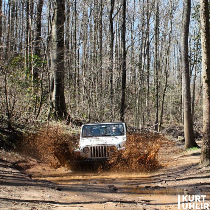 Kurt Uhlir - off-roading in Alabama in the Jeep