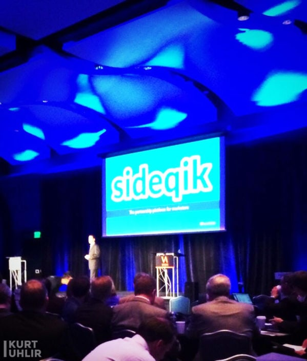 Kurt Uhlir presenting Sideqik at Venture Atlanta. Company part of Flashpoint at Georgia Tech, Atlanta Tech Village, and ATDC.