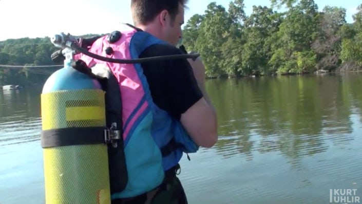 Kurt Uhlir scuba diving with Guntersville Rescue Squad