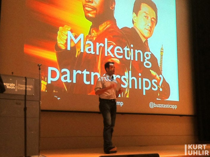 Kurt Uhlir speaking at B2B Camp on Marketing Partnerships
