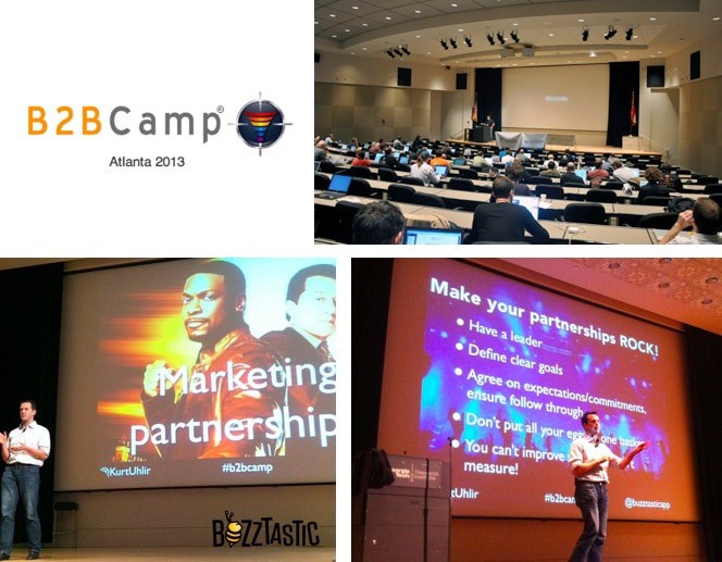 Kurt Uhlir speaking at B2B Camp 2013