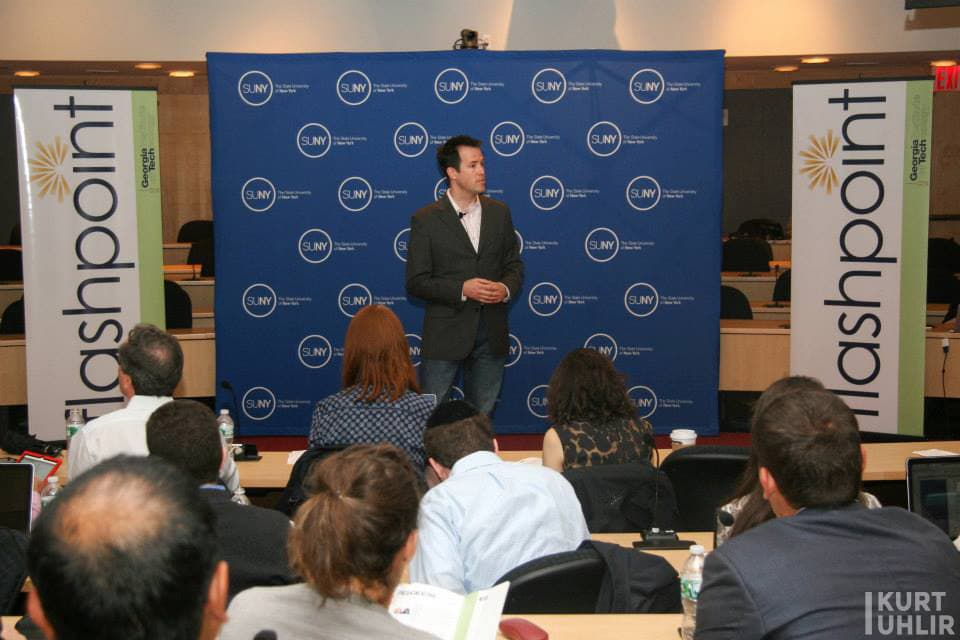 Kurt Uhlir speaking at SUNY Global Center - State University of New York